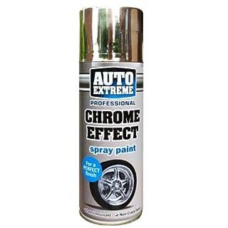 1 x Auto Extreme Professional Chrome Effect Spray Perfect Finish Petrol Resistance 400ml