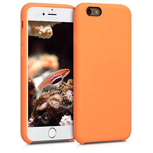 kwmobile Coque Apple iPhone 6 / 6S - Coque pour Apple iPhone 6 / 6S - Housse de téléphone en Silicone Mandarine
