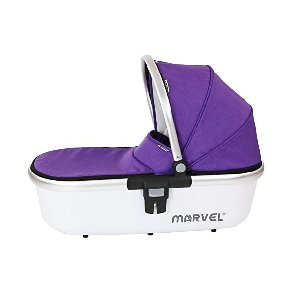 Marvel Carrycot - Monaco Maroon iSafe Luxury Carrycot Suitable For The iSafe Marvel Pram (Chassis & Wheels Are NOT Included) Easy Fit, Unique Design Complete With Free Boot Cover 3