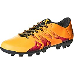 Adidas X 15.3 AG, Scarpe da Calcetto Uomo, Arancione (Solar Gold/Core Black/Shock Pink), 45 1/3 EU