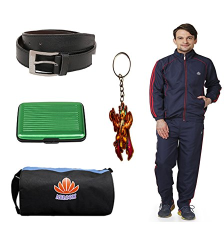 Abloom Track suit & Gym Bag & Belt With Key chain combo