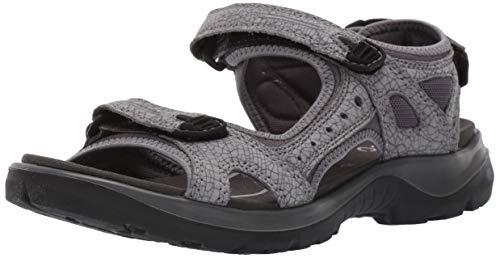 ECCO Damen Offroad Peeptoe Sandalen, Grau (Titanium/Dark Shadow 57486), 39 EU (Ecco Frauen Schuhe Sport)