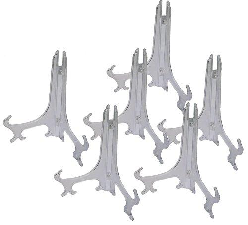 Handel24NET 6 Tellerständer aus acryl Ø 22cm Höhe ca.13cm für Sammelteller Schalenständer