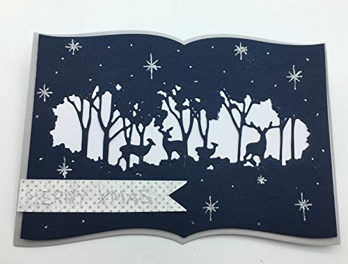 zschablone/Cutting Dies Ausschnitt Rehe Weihnachten geeignet für Big Shot ()