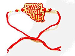 GiftShala Swag Wala Bhai Rakhi (Water Proof) for Stud Brother Latest Rakhi Gift