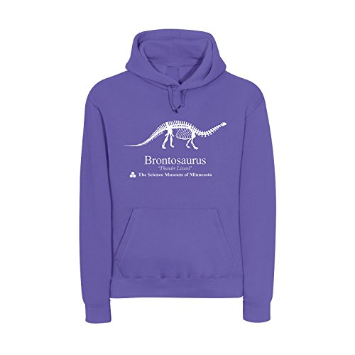 saurus Dinosaurier Lila Männer Pullover mit Kapuze Science Museum of Minnesota Jungs Sweatshirt Sweater Fan Serie TV Naturkunde (S, Lila) (Dinosaurier Hoodie)
