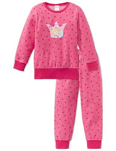 Schiesser Mädchen Zweiteiliger Schlafanzug Warmer Frottee Set mit Prinzessin Lillifee Motiv, Rot (Pink 504), 98