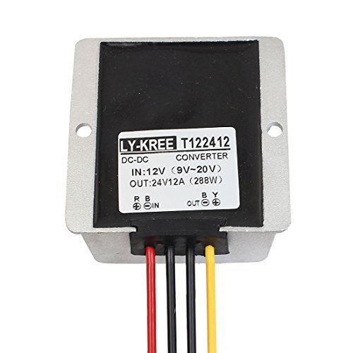JSDL Wasserdicht DC-DC-Boost-Konverter 12 V (9 V ~ 20 V) bis 24 V 12 A 288 W Step-Up Volt Regulator Car Power Adapter Modul (View amazon detail page)