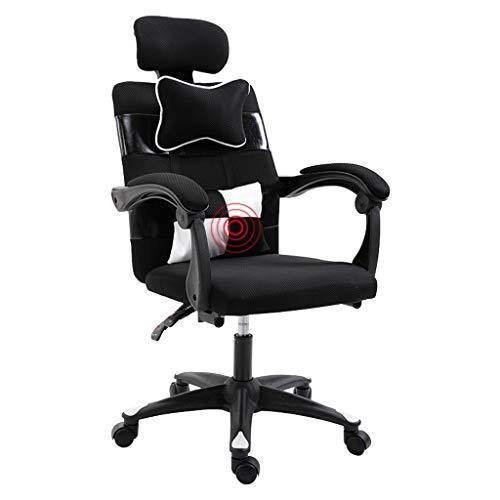 Executive Computer Büro Stuhl (MMLI-Schreibtischstühle Büro Gaming Stuhl Computer Executive Task Rezeption Reclining Verstellbare Kopfstützen Lordosenstütze Ergonomisches Mesh Komfort Nylonfüße)