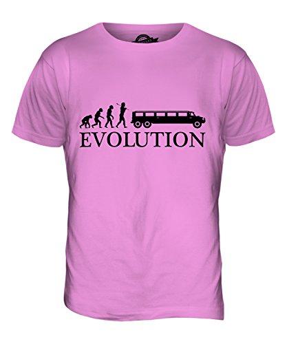 CandyMix Hummer Stretch-Limousine Evolution Des Menschen Herren T Shirt Rosa