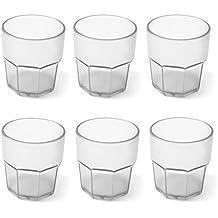 Cartaffini Agile Set 6 Bicchieri Infrangibili, Bianco, 8. cm, 6 Unità
