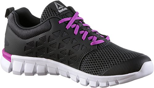 Reebok Damen Sublite XT Cushion 2.0 MT Laufschuhe coal-vicious violet-white-pewter