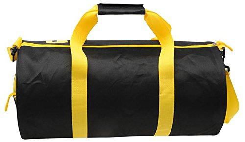 Barrel Tasche Reisetasche Sports Gym Travel Bags - Schwarz / Gelb