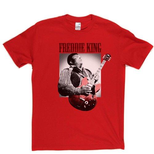 Freddie King American Blues Guitarist Three Kings BB T-shirt Rot