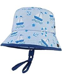 Y-BOA Chapeau Bonnet Motif Bateaux Enfant Bébé Fille Garçon Outdoor Anti-UVSoleil