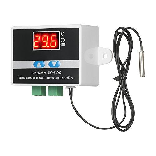 KKmoon TMC-W2000 DC12V Temperatura Controlador Lcd Digital Termostato Alto Precisión con Impermeable Sensor Sonda