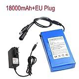 SO-buts Lithium-Akku + EU-Stecker, Ladegerät, DC 12V Super-Lithium-Ionen-Akku für Digitalkameras, Bluetooth-Geräte, Luftfahrt-Modelle, Etc. (18000 mAh)
