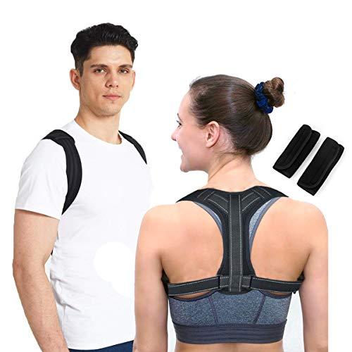 Lyeiaa Haltungstrainer, Rückenstütze Geradehalter zur Haltungskorrektur, Rücken Geradehalter für Damen & Herren, Gegen Nacken -und Schulterschmerzen,Verstellbar & Atmungsaktiv, L (81-96cm)