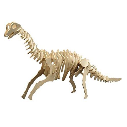 matches21 Holz Bausatz Dinosaurier Brachiosaurus 52-tlg. 55x25 cm Steckbausatz f. Kinder Holzbausatz