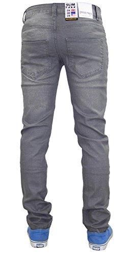 New Trueface Herren Jeans Slim Fit Stretch Denim Basic 5Pocket Grey Wash