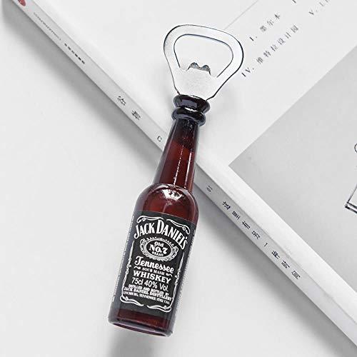 Kreative amerikanische dreidimensionale Kühlschrank-Stick Flaschenöffner Bier Flaschenöffner magnetischer multifunktionaler Flaschenöffner Haushaltszubehör, jack daniel 黑色,小
