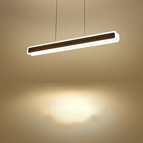 Yuyuan Light Rechteckige Eisen-LED-Decken-Lampe, modernes einfaches kreatives Büro-Kronleuchter, individuelles Wohnzimmer-Gaststätte-Treppenleiter-Kronleuchter, hohe Helligkeit Acryl-hängende Lampe, weißes Licht 30W Weiß