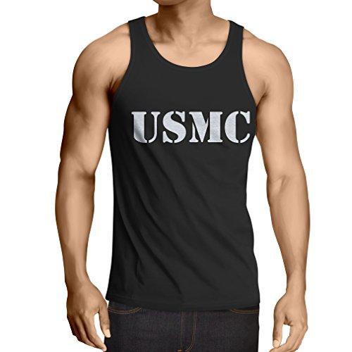 lepni.me Weste USMC Emblem, Marine Corps, Marines Logo, US Navy Armed Forces (Large Schwarz Weiß) -
