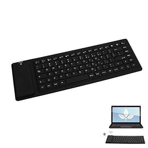PerGrate 88 Schlüssel Stille Silikon Flexible Faltbare Tastatur Bluetooth Slim Tastatur für Tablet PC Telefon