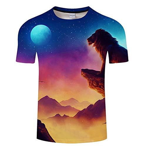 Kostüm Löwen Der Machen König - Ywfzzxs T-Shirt 3D Tops Mode-T-Shirts Unterhemden Kurzarm Unisex Neuheit Kostüm HD Anime Druck König Der Löwen
