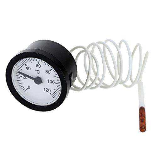 Manometer Thermometer Temperatur Anzeige 0-120c Wasser & Öl 1,5 Meter (Flüssige Anzeige)