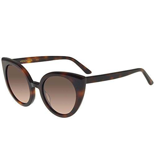 Spektre occhiali da sole vendetta by a la russe shiny havana/grey pink shaded donna