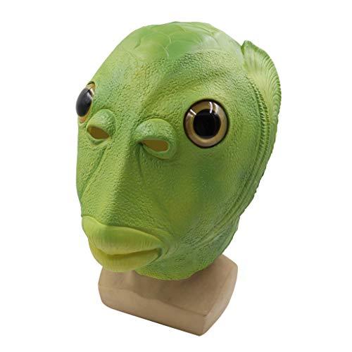Kostüm Dead Dj - Hffan Horror Kopfmaske Erwachsenes Fischkopf Latex Schmelzenden Gesichtes Blutigen Maske Furchtsames Walking Dead Party Kostüm Gesichtsmaske Cosplay Karneval Gesichtsmaske Kopfmask