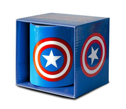 Marvel Comics - Captain America Logo Mug de café - présenté Dans un co