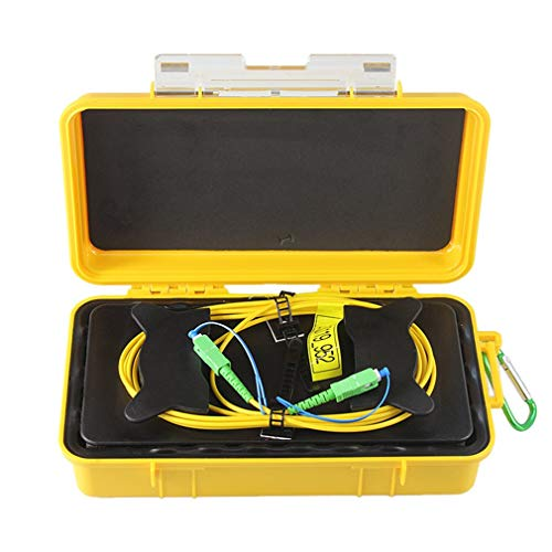 GreatWall SC/APC Professional Singlemode 2000M OTDR Startkabel Box Glasfaserring gelb & zurück -