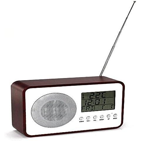 Radio Reloj - Despertador - Woodstock - Snooze - Temperatura