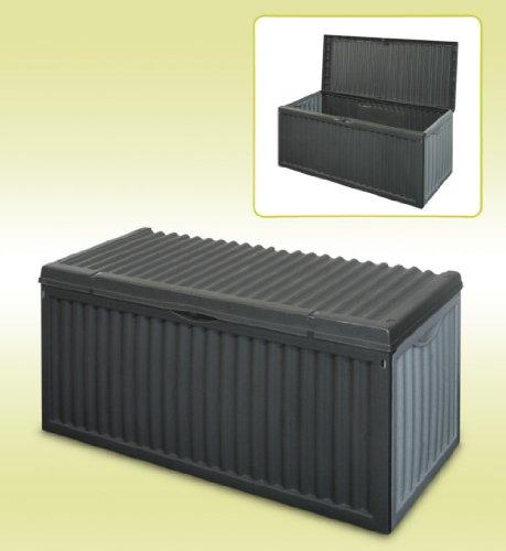 Box In Plastica Per Giardino.Contenitore A Cassapanca Nero Di Plastica Box Da Giardino Patio