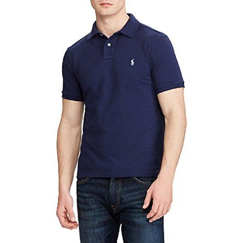 Ralph Lauren Herren Kurzarm Polos - Classic Fit - Klassische Farben (Navy, XL) - Classic-fit Lauren Ralph Shirt,