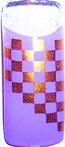 Lot de 20 Tips : Carreaux Violet/doré # Aérographe de 20 S11