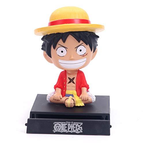 CYRAN Dragon Ball Z One Piece Figura Luffy Soporte de teléfono Decoración del Coche...