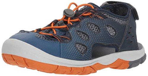 Jack Wolfskin TITICACA LOW K, Unisex-Kinder Sport Sandalen, Blau (ocean wave), 36 EU (3.5 UK) Velcro-strap Sandalen