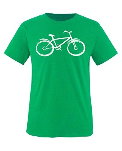 Comedy Shirts - Fahrrad - Jungen T-Shirt - Grün/Weiss Gr. 110-116 -