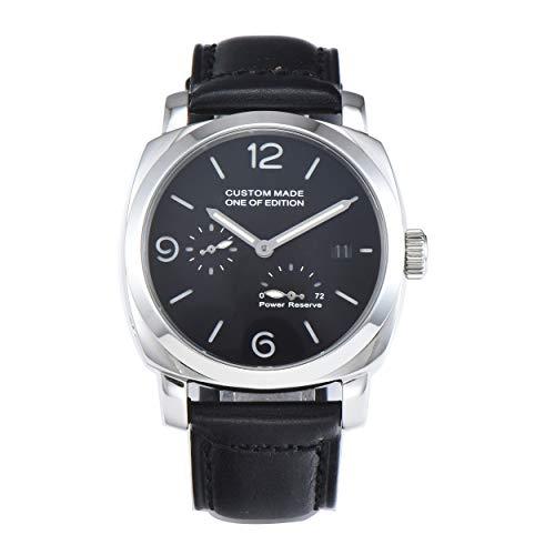 PARNIS-MM 9504 Exclusive deutsche Edition Herrenuhr Automatik-Uhr 44mm Edelstahl Leder Mineralglas 5BAR Seagull Uhrwerk Gangreserve-Anzeige