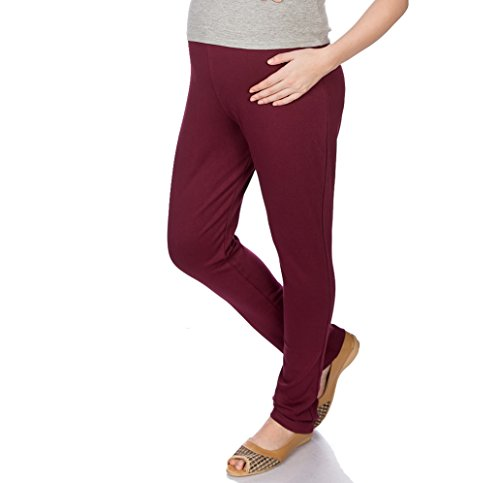 Goldstroms Women's Maternity Pant/Legging (Maroon, L)