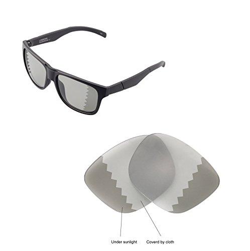 Walleva Ersatzgläser für Smith Lowdown Sonnenbrille - Mehrfache Optionen verfügbar (Übergang - Polarisiert)