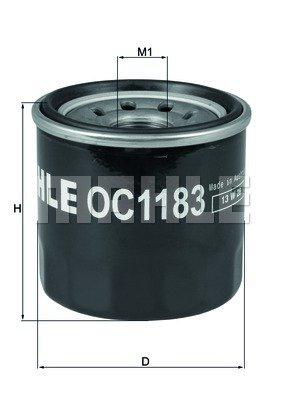 Preisvergleich Produktbild MAHLE ORIGINAL OC 1183 Filter