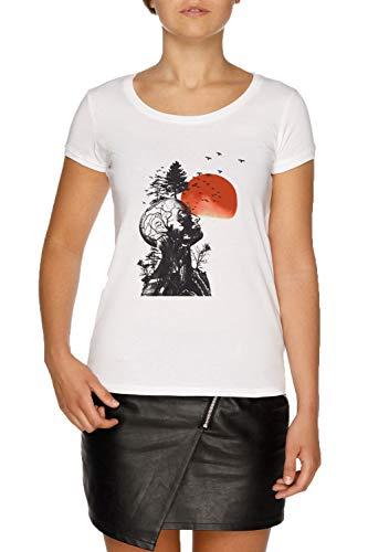 Alans Kater Damen Weiß T-Shirt Größe M | Women's White T-Shirt Size ()