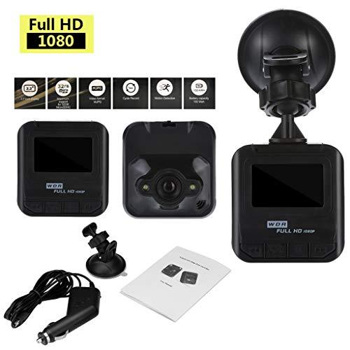 Dashcam Autokamera Goodpa 1080P Fahrrecorder Dual Kamera mit Rückblick Nachtsicht haben WAR Dash Cam Camera Bewegungserkennung | WDR | Auto DVR Camcorde | Parkmonitor | Loop-Aufnahme | Nachtsicht