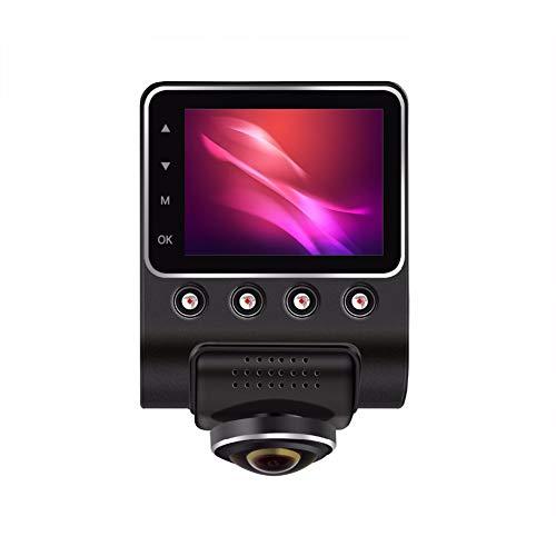 QAX Dashcam Auto Dash Camera Panorama-360 Grad Recorder versteckt 1080P HD Nachtsicht WiFi 24-Stunden Parkplatz Überwachung Auto DVR 170 ° Weitwinkel