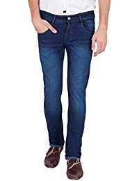 American-Elm US Blue Men's Blue Slim Fit Cotton Stretchable Jeans