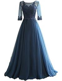 Eudolah Maxi robe de soirée en tulle pailletée parsemée des fleurs demoiselle d'honneur femme